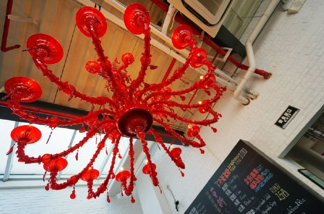 The red chandelier